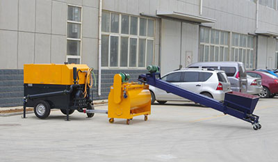 Lightweight concrete brick machine