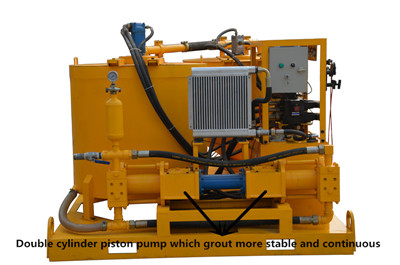 double cyliner piston grout pump