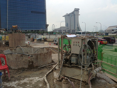 foundation treatment project grouting pump