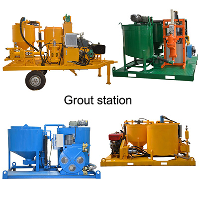 LEC grout station