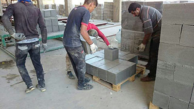 concrete CLC brick machine