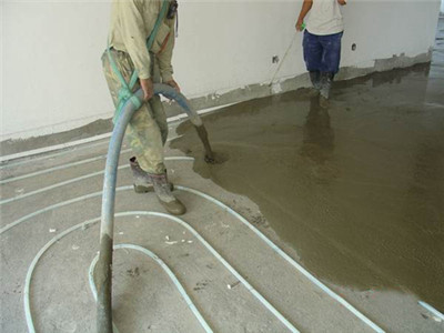 clc foam concrete for floor heating