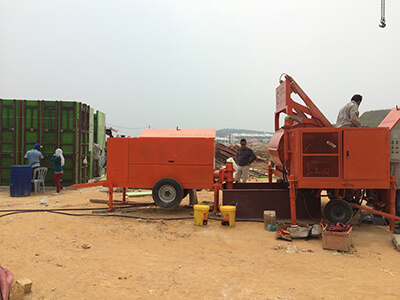 foam concrete mixer