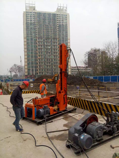 grouting work drilling equipment