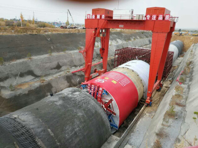 Tunnel building machine use hose pump