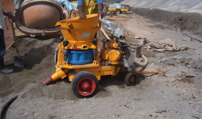 concrete spraying machine with factory price