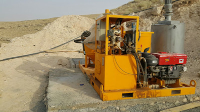 Cement grout  equipment for dam
