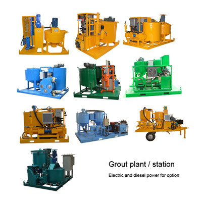 China grout mixing and agitating station
