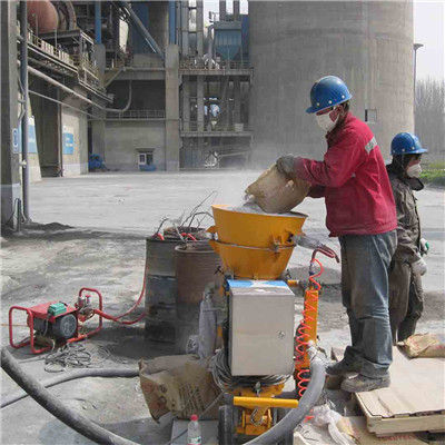 refractory gunning machine for cement plant