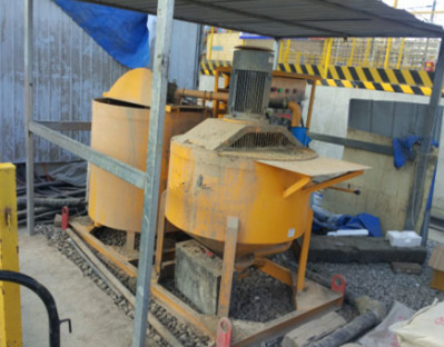 bentonite mixing and pumping machine for tunnels