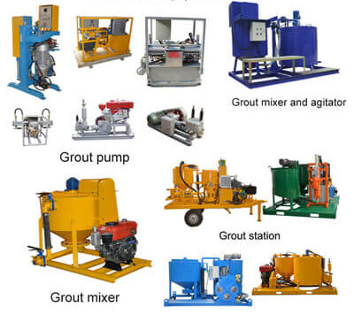 High pressure cement grout pump