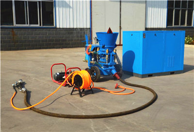 refractory gunite machine with air compressor