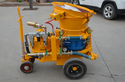 Full pneumatic concrete shotcrete machine