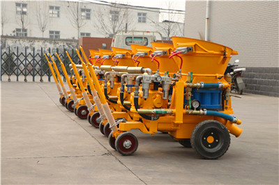 concrete spraying  machines factory