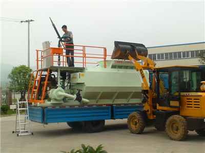 hydro seeding grass machine
