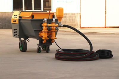 Mortar spray machine for cement