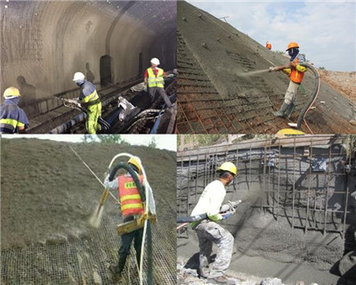 application of shotcrete machine