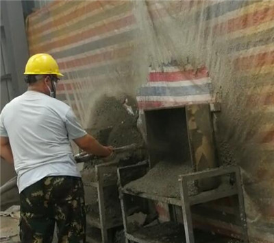 Plastering machine application
