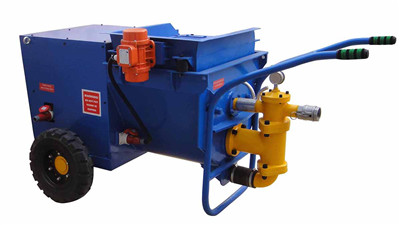 Spray force plaster pump