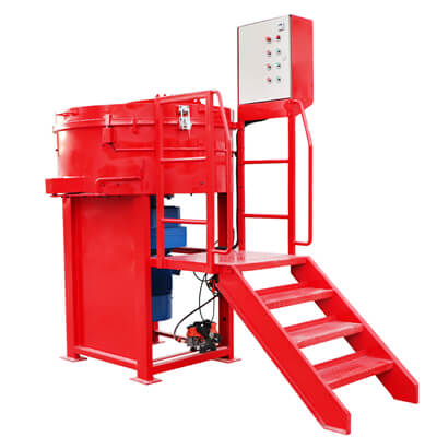 refractory pan mixing machine