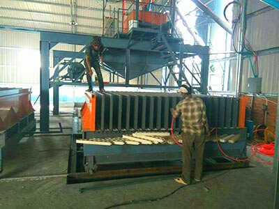 lightweight wall panel molding machine