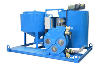 hose type electric motor grout plant
