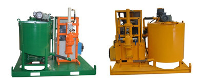 plunger type electric motor grout plant
