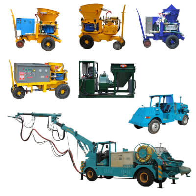 shotcrete machine spray techniques