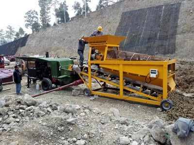 slope greening machine for planting seeds