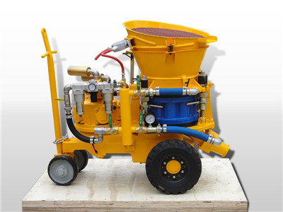 air driven dry shotcrete machine