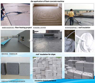 foam concrete for roof insulation