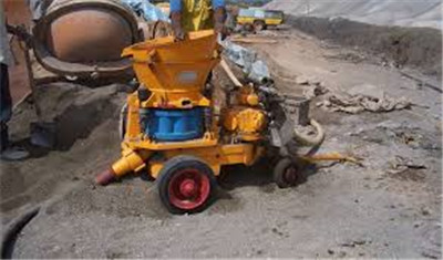 shotcrete machine used for joint filling