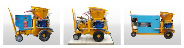 dry-mix gunite machine