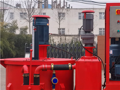 high pressure cement mixing grout pump plant