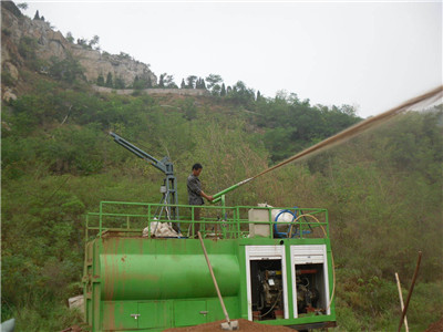 China soil seeding spraying machine