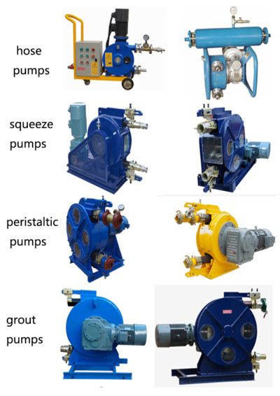 Hose pumps for pumping slurry