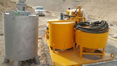 Cement grout equipment