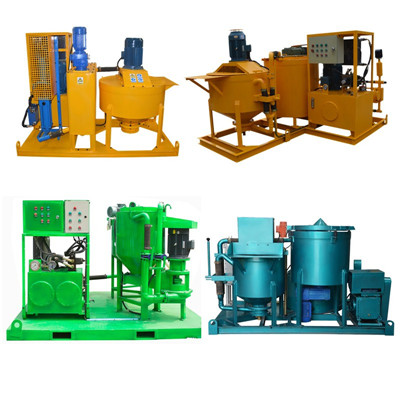 piston type electric motor grout plant