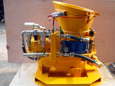 air driven dry mix shotcrete machine