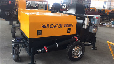 cellular lightweight foam concrete block machine