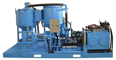 piston type diesel engine grout station