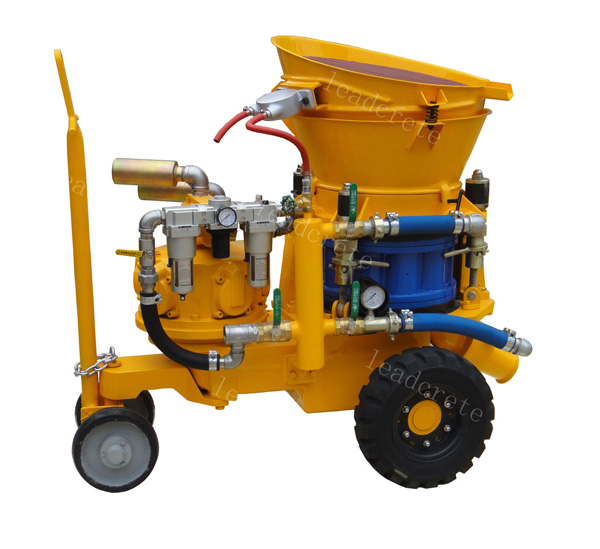 pneumatic motor dry mix shotcrete machine