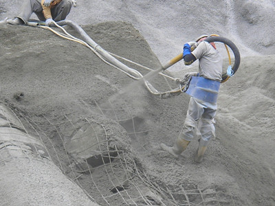 shotcrete for side drifts