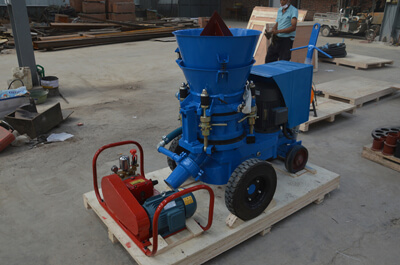 Blue colour gunite machine for India customers