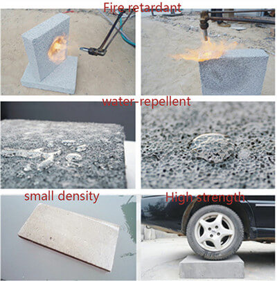 the performance of the foam concrete
