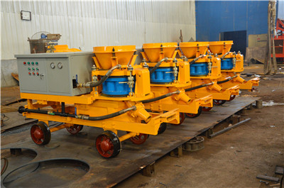 Rotary gunite machine to Singapore