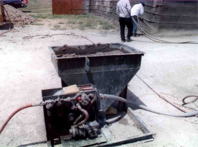 shotcrete pump for foam concrete