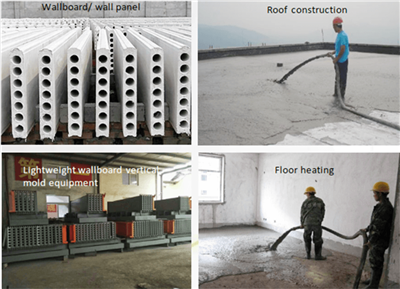 applications of the lightweight concrete machine
