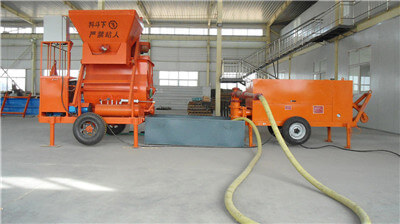 foam concrete machine for thermal insulation roofing