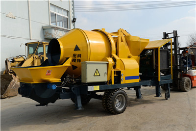 China concrete mixer with pump